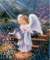 garden angels - 2015 new handamde Diamond Angel gardening DIY painting the living room square diamonds embroidered paintings