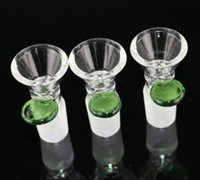 glass products - Glass Cone Bowl with handle male smoking bowl green handle new product on sale