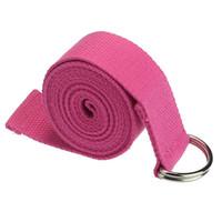 Wholesale Overmal New Yoga Stretch Strap D Ring Belt Waist Leg Fitness CM Adjustable