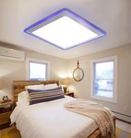 Wholesale Flush Mount LED Modern Ceiling Lights Living Room Bedroom Kitchen Bathroom Office Kids Room Acrylic Metal Plating