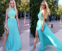 party dresses for women - 2015 Wedding Dress Newest Long Dresses for Women Boho Maxi Dresses Party Evening Dresses Split Criss out Pleated Dress for hot Ladies Women