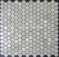 conchas lustre de color blanco puro en forma de hexgono madre de los azulejos de mosaico de concha de perla la pared posterior bao de ducha de