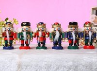 Wholesale 2016 Scrapbooking Scrapbook Dream Catcher Toy Soldiers cm Walnut Ceremonial Drum Nutcracker Soldier Crafts Gift Continental Popular Toys