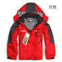 Wholesale 2015 brand in gore tex camping hiking jackets for Children kids boys girls outdoor sports ski jacket suit waterproof set fleece ski coat