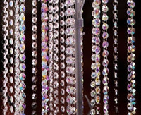 Wholesale M Crystal Garland Clear AB14mm Octagonal Beads With mm Ring Glass Strands Wedding Home Decoration