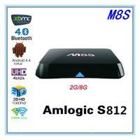 Wholesale M8S android TV box Amlogic S812 G G xbmc kodi fully loaded G WiFi M8 RII I8 Keyboard Mouse