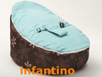 Wholesale Splash with blue harness seat custom print baby bean bag chairs