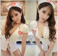 Wholesale 2016 Women Sexy Costumes Outfits Sexy Lingerie Women Sexy Underwear Nurse Uniforms Temptation Sexy Lingerie Suit Club Pole Dancing Costumes