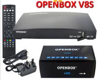 venda por atacado digital receiver-Os mais recentes Openbox V8S Receptor de Satélite Digital SupporYoutube Youporn CCCAMD Newcamd S-V8 Suporte WEBTV Biss Key 2xUSB slot USB Wifi 3G