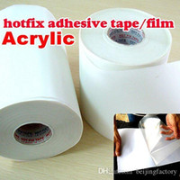 achat en gros de transferts correctif-Longueur 10M / Lot, 32CM large Hot fix papier adhésif adhésif sur le film de transfert de chaleur super pour HotFix strass outils de bricolage Y2644 A2