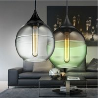 glass dining room - Modern pendant lights Vintage Edison bulb hanging lamp Dining room creative glass lighting fixture