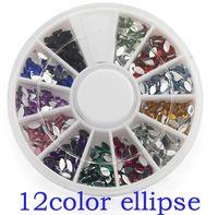 art ellipse - ONE box colors Fashion Nail Decoration Super bright flash Ellipse shape Rhinestone Nail Powder For Nail Art Tips M658