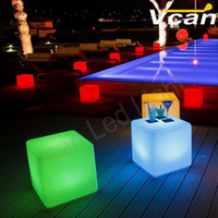 Wholesale Factory cm Hot illuminated glowing rgb colorful LED Furniture LED Light Up Square Cube Chair Seat