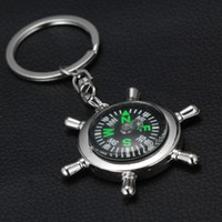 best small compass - 2015 Alloy Nautical helm compass keychain Fashion Key Chains Charms Keychains novelty key rings small items best selling items