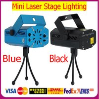 Wholesale Hottest V LED Mini Stage in1 in1 in1 in1 Xmas Party Laser Lighting Holographic lamps strobe R G DJ Light effect Show Projector
