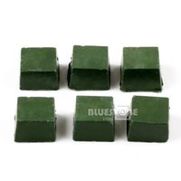 Wholesale 6pcs Leather Strop Sharpening Polishing Compounds g per one Green New