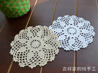 bamboo table mat - 2013 new pic cm round flowers lace doily IKEA crochet hook felt as kitchen accessories for table coaster cup pad mat
