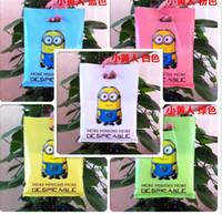 Wholesale DHL Cartoon Minions Frozen Hello Kitty Mickey Loot Bags Box Plastic Shopping Souvenir Bag Packing Package Party Decoration Christmas Gifts