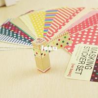 basic pack - Fashion Hot Washi Scrapbook Basic Masking Tape Craft Stickers Pack Decorative Labelling Art Adhesives