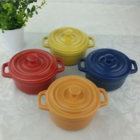 Wholesale High Quality Mini Soup Pots With Cookware Ceramic Cooking Pot Bakeware Soup Tureens Cooking Tools