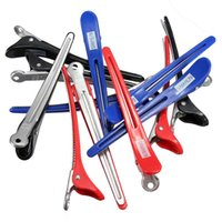 barber clips - Styling Tools Hair Clips Pro Hairdressing Aluminum Plastic Clips Clamps Salon Barber Section Hair Grip Clip Styling Tools Accessories