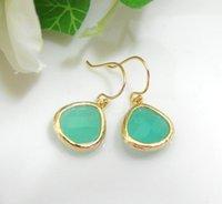 Cheap 1pair Gold Silver Mint Earring Dangle Earrings