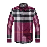 Wholesale The Latest Great Brand Men Shirts Fashion And High Quality Plaid Check Long Sleeve