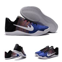Cheap (With shoes Box) Kobe XI 11 KB BHM 822522-914 Multi-Color Royal Black History Month Men Hot Sale Shoes Free Shipping