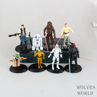 Wholesale Vente chaude Cartoon Star Wars Action Figure R2 Jedi Chewbacca Etc Clone Figures modèle jouets collection Anime jouets pour les enfants cade