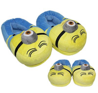 Wholesale Minion Slippers Hot Despicable Me Home Shoes Soft Cotton Winter Home Warm Slipper Women Men Indoor Soft Cute Shoes