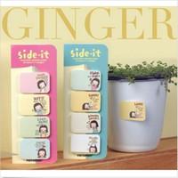 achat en gros de note filles-Side-it Petite fille mignonne Papeterie coréenne Mini Autocollant Post Bookmarker Pavé Memo Pad Drapeaux Sticky Notes 1.18 * 0.98 inch