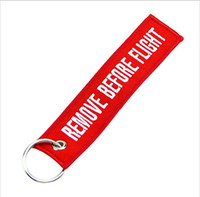 Wholesale OP One World Remove Before Flight Key Chain Lage Tag Zipper Pull Woven Embroidery Keychain Save up to
