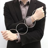 Wholesale 1 Set Of Metal Linking Rings Magic Tricks Kit Connected Stage Magic Supply H1245