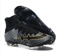 real football boots - 2015 Newest BHM Super Light Cristiano Ronaldo CR7 High Cut Soccer Football Boots Shoes Cleats Real Carbon Fiber Bottom Black White Gold