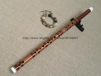 b flute - LQP007 professional concert grade Chinese Bamboo flute Dizi red wire copper joint handmake Bass G A b BKey C D E F G A musical instruments