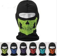balaclava hood neck - 2015 Motorcycle Bike Reflective Skull Balaclava Hood Full Warm Neck Face Cycling Ski Windproof Protector Mask Hat Hats
