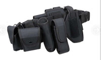 Wholesale 10 in Multifunctional duty belt Security Holsters Magazine Pouch Set waist Belt for outdoor Training Airsoft Tactical Black