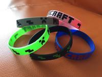 Wholesale 50pcs High Quality New styles Minecraft wristband Minecraft bracelet Minecraft cuff Minecraft accessories in stock