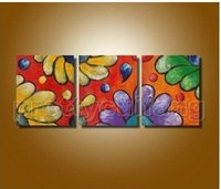 art alternatives canvas - Modern abstract art painting Alternative flowers pure hand painted