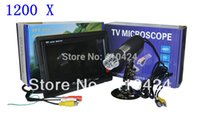 Wholesale 1200X Digital TV Microscope With inch LCD Moniter High Resolution Electron Microscope order lt no track