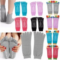 Wholesale 5 Toes Yoga Socks Exercise Massage Sports Cotton Pilates Socks Anti Slip Yoga Socks Female Sports Cotton Sport PVC Socks