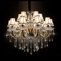 Wholesale Lights Europe Style Luxury K9 Crystal Ceiling Chandelier Large Crystal Chandelier for Home or Hotel in