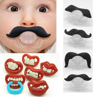 baby dummies - High Quality Funny Mustache Infant Chill Baby Boy Girl Infant silicone Pacifier Orthodontic Dummy Beard Nipples