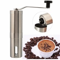 Wholesale Hot Sale Silver Stainless Steel Hand Manual Handmade Coffee Bean Grinder Mill Kitchen Grinding Tool g x18 cm Home