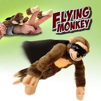 al por mayor volar mono de juguete-Mono del vuelo del mono de juguete de griterío del vuelo Slingshot mono de peluche de juguete de regalo Flingshot Slingshot Flying Screaming Monkey Playmaker baratos Juguetes