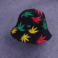 Wholesale New Arrival Maple Leaves Design Bucket Hat Hot sale Outdoor Sports Unisex Sunhat Fashion Popular Sunbonnet
