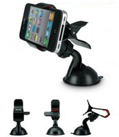 Wholesale Car phone holder rotates degrees sucker car navigation bracket GPS PDA MP3 MP4 universal mobile support for iphone for Samsung stand