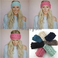 knit headband - Women s Fashion Wool Crochet Headband Knit Hair band Flower Winter Ear Warmer headbands for women S507