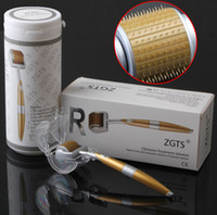 0.2mm aging skin spots - ZGTS derma roller titanium Micro needles Skin Roller for Cellulite Anti Aging Age Pores Refine