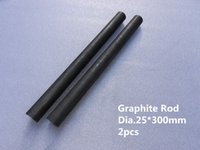 Wholesale Dia mm graphite stir rods graphite anode rod Graphite round die for copper tube continuous casting machine